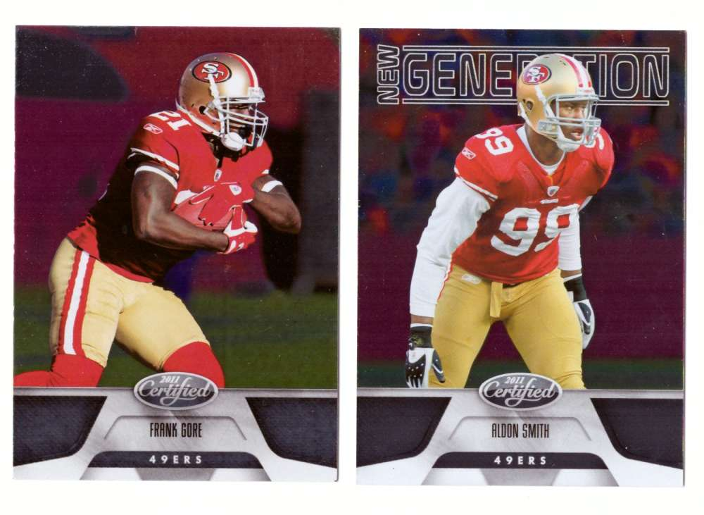 2011 Certified (1-250) Football Team Set - SAN FRANCISCO 49ERS