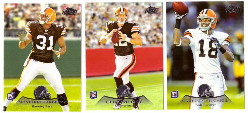 2010 Topps Prime Retail Football - CLEVELAND BROWNS