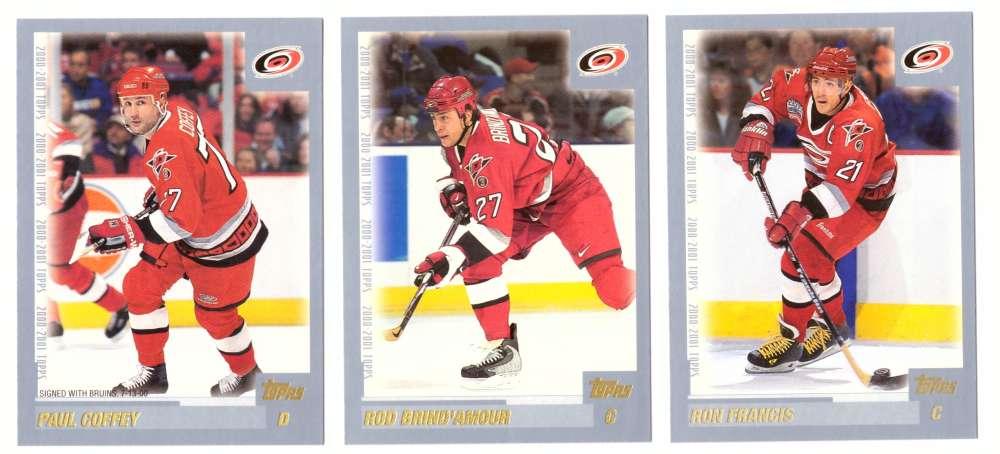 2000-01 Topps Hockey Team Set - Carolina Hurricanes