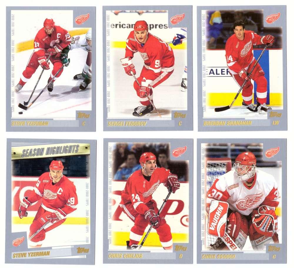 2000-01 Topps Hockey Team Set - Detroit Red Wings