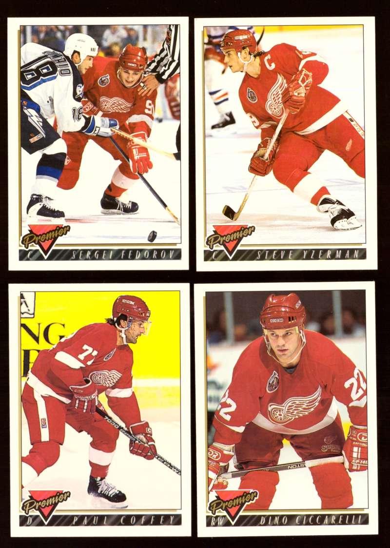 1993-94 Topps Premier Hockey Team Set - Detroit Red Wings