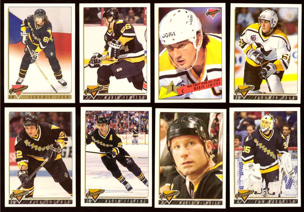 1993-94 Topps Premier Hockey Team Set - Pittsburgh Penguins