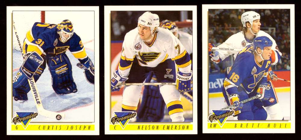 1993-94 Topps Premier Hockey Team Set - St. Louis Blues