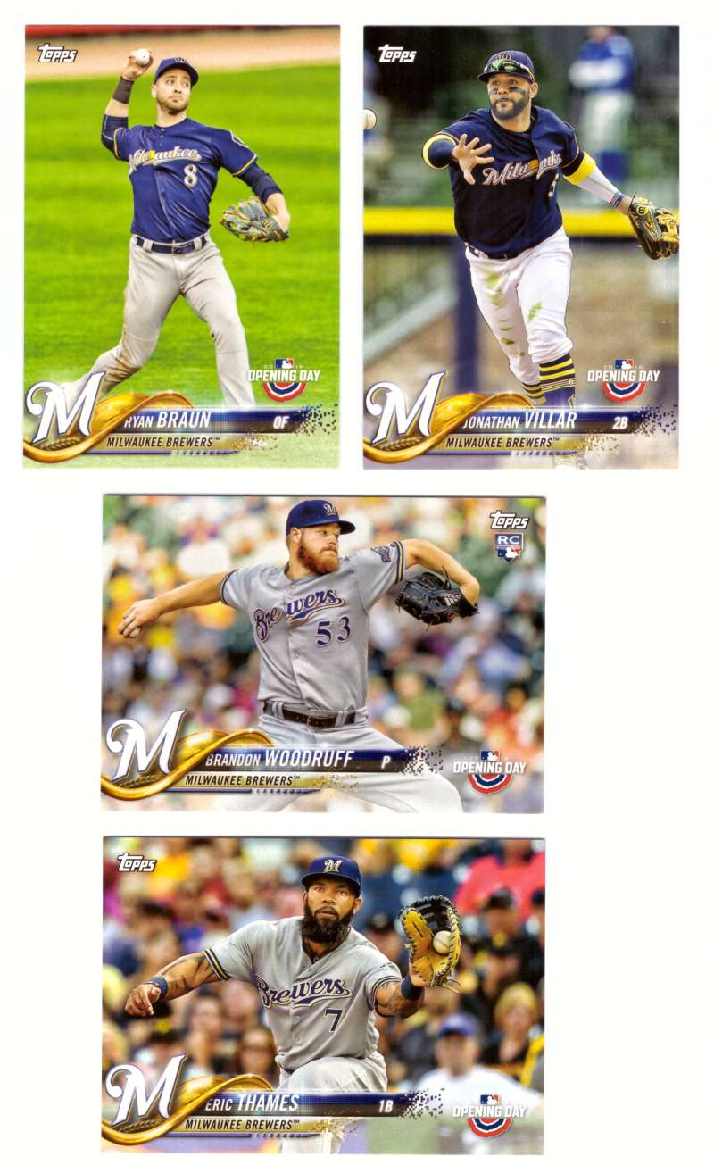 2018 Topps Opening Day - MILWAUKEE BREWERS Team Set