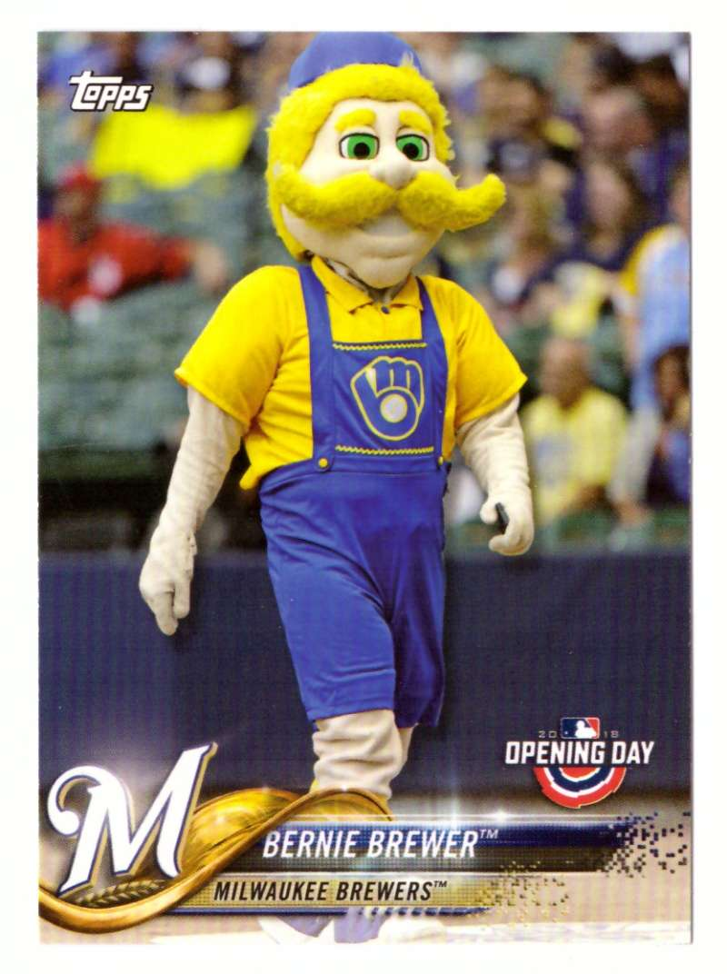 2018 Topps Opening Day Mascots - MILWAUKEE BREWERS