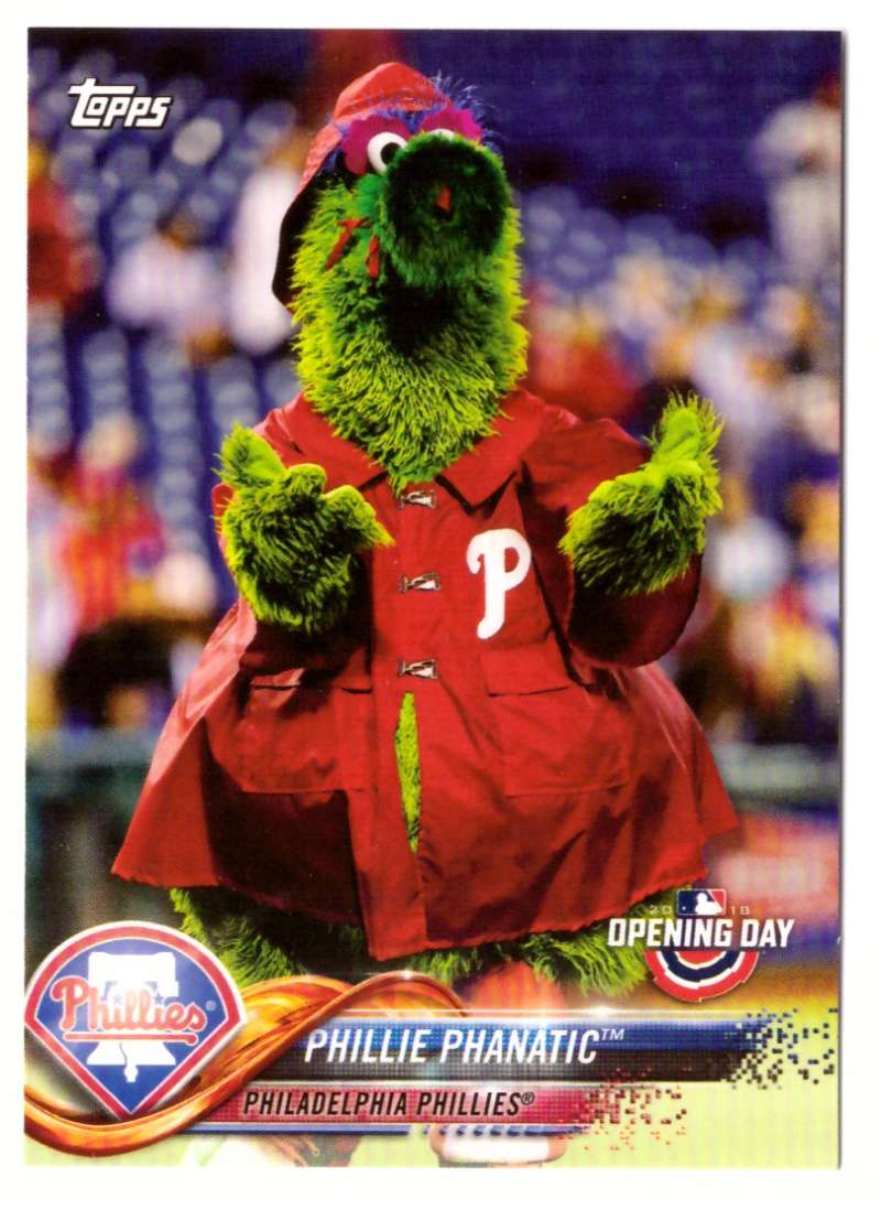 2018 Topps Opening Day Mascots - PHILADELPHIA PHILLIES