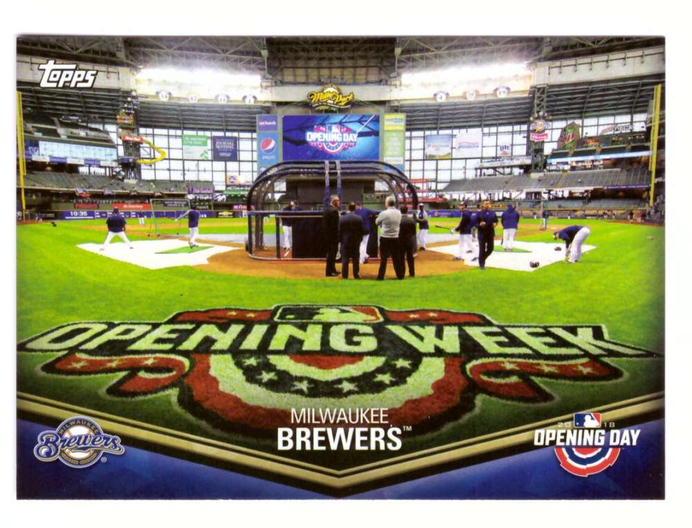 2018 Topps Opening Day Stadiums - MILWAUKEE BREWERS