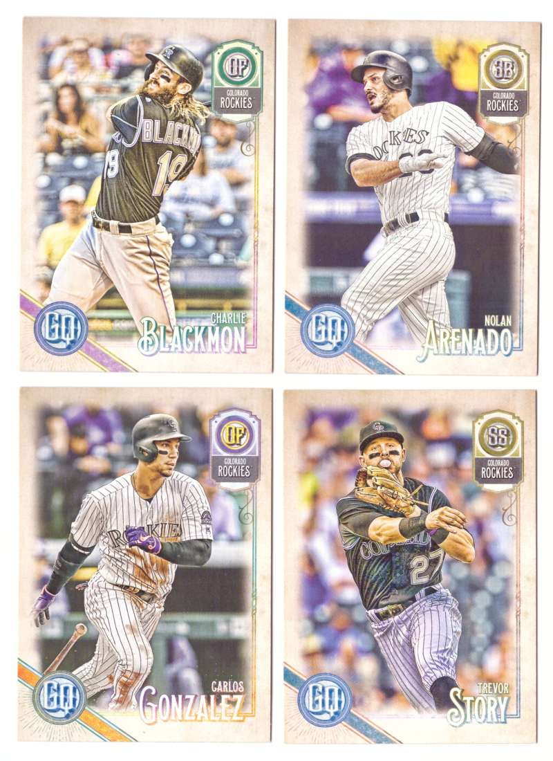 2018 Topps Gypsy Queen - COLORADO ROCKIES Team Set
