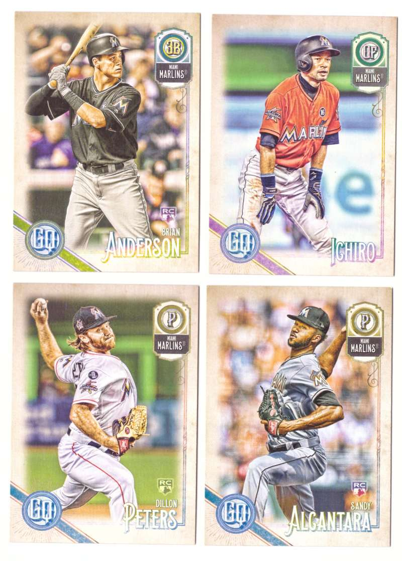 2018 Topps Gypsy Queen - MIAMI MARLINS Team Set