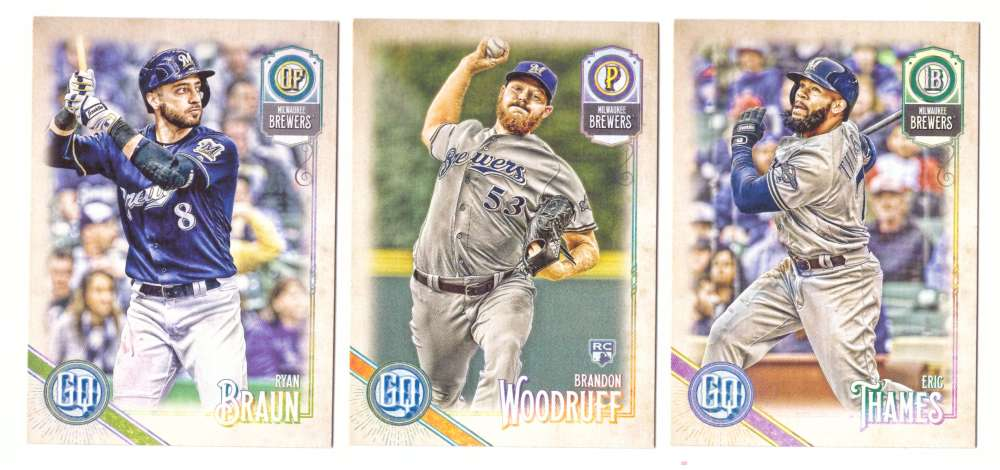 2018 Topps Gypsy Queen - MILWAUKEE BREWERS Team Set