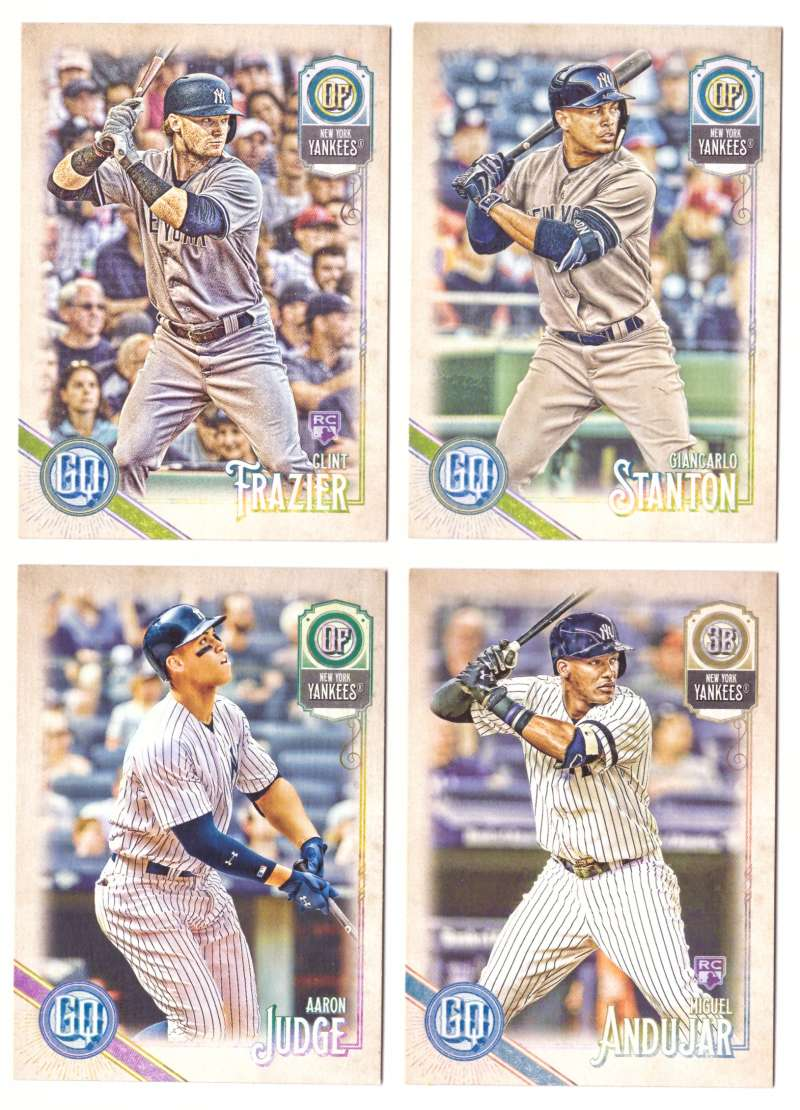 2018 Topps Gypsy Queen - NEW YORK YANKEES Team Set