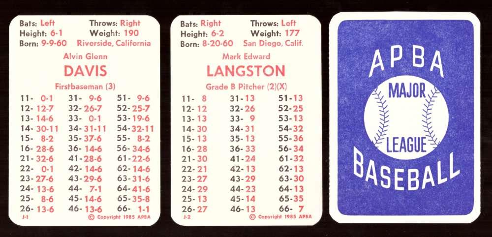 1984 APBA Season - SEATTLE MARINERS Team Set