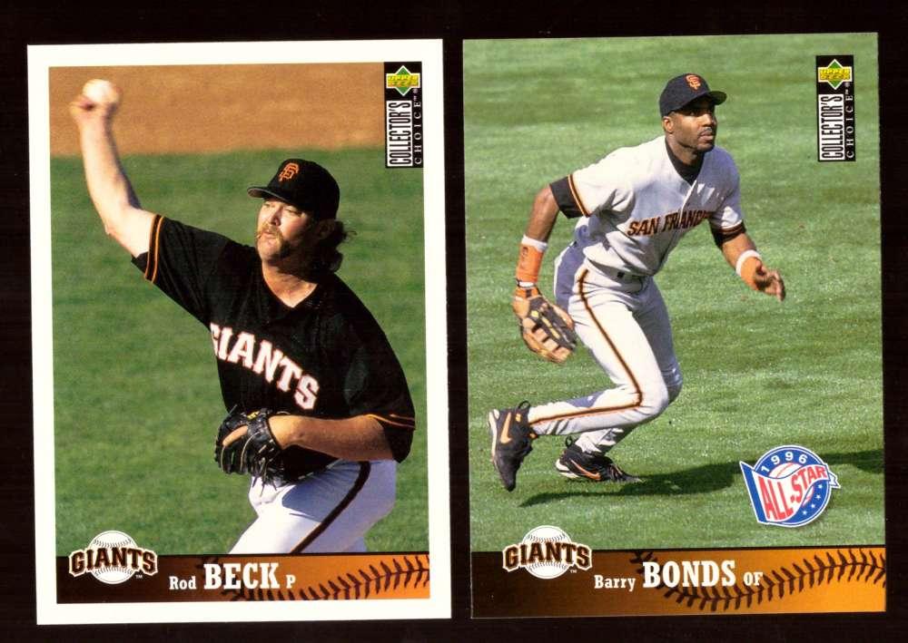 1997 Collectors Choice - SAN FRANCISCO GIANTS Team Set