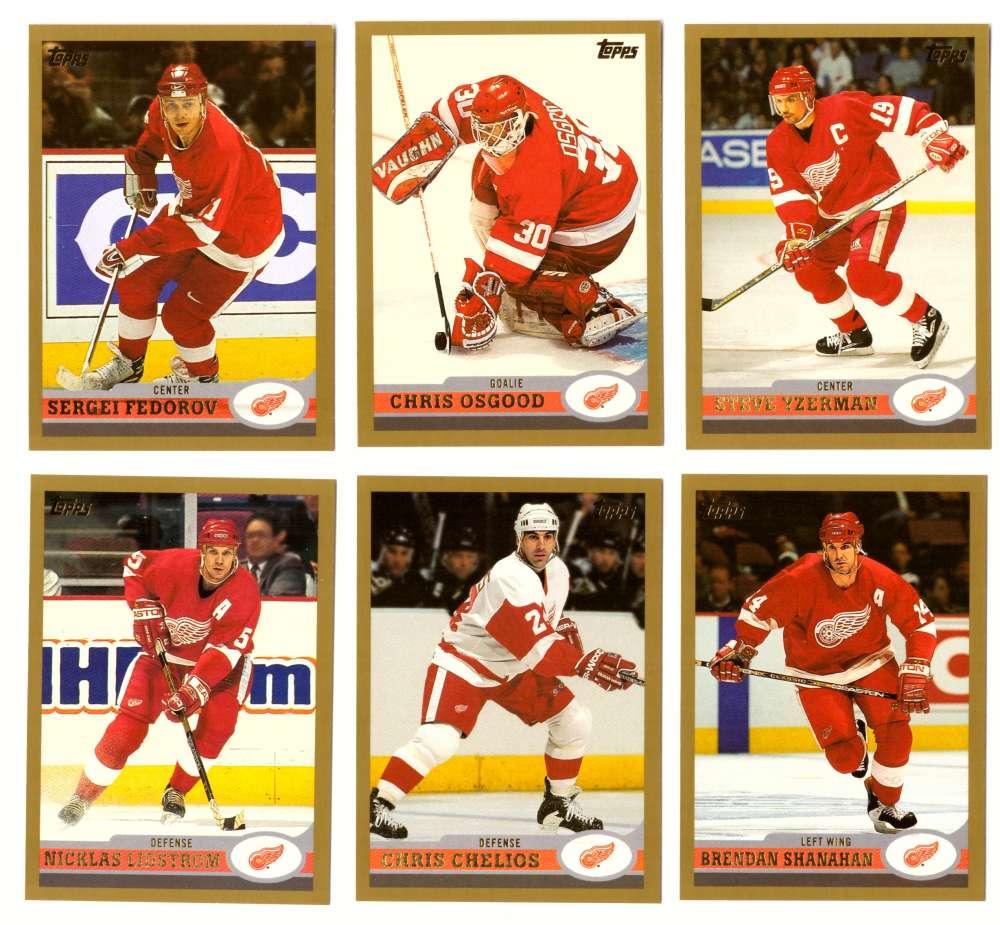 1999-00 Topps Hockey Team Set - Detroit Red Wings