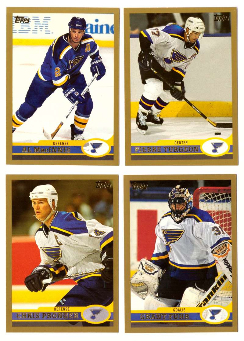 1999-00 Topps Hockey Team Set - St. Louis Blues