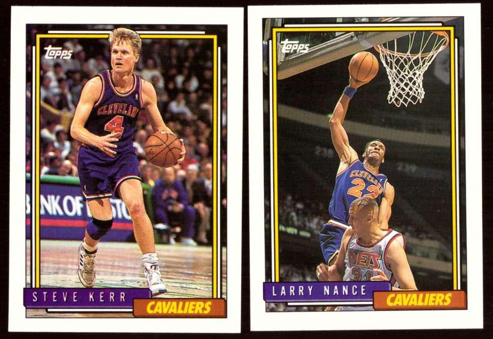1992-93 Topps Basketball Team Set - Cleveland Cavaliers
