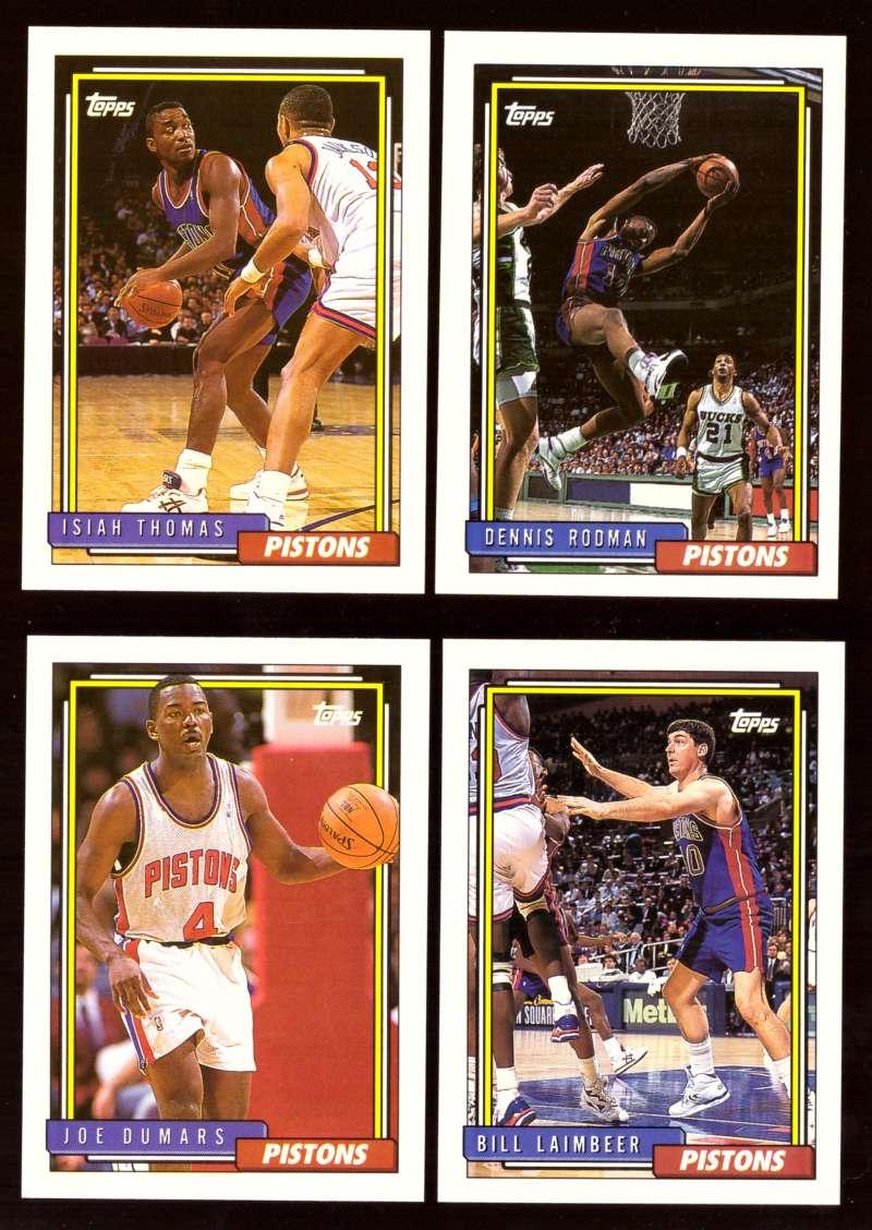1992-93 Topps Basketball Team Set - Detroit Pistons