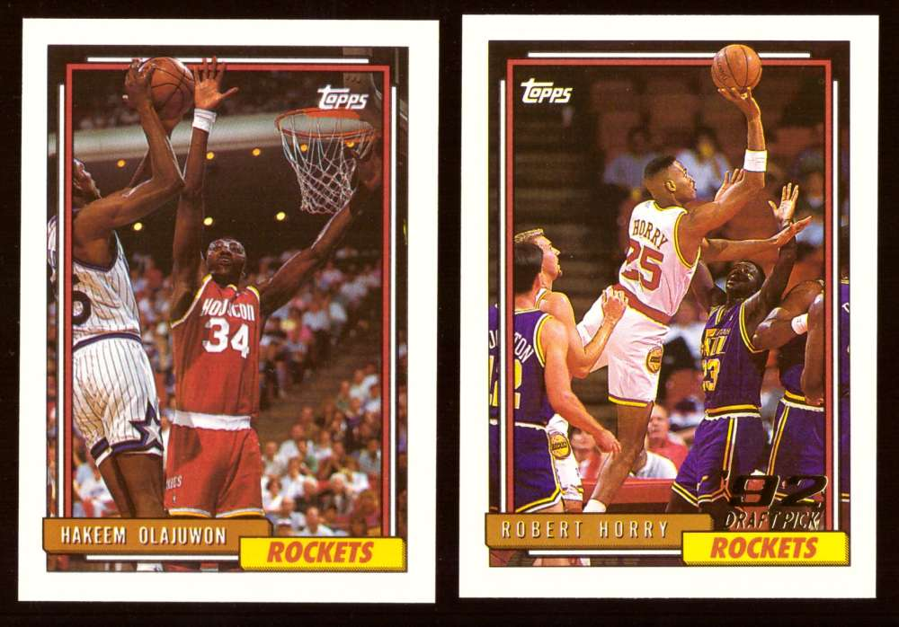 1992-93 Topps Basketball Team Set - Houston Rockets
