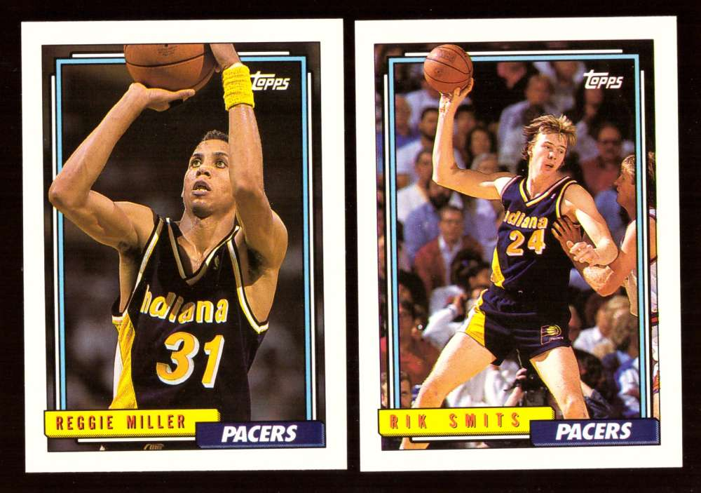 1992-93 Topps Basketball Team Set - Indiana Pacers