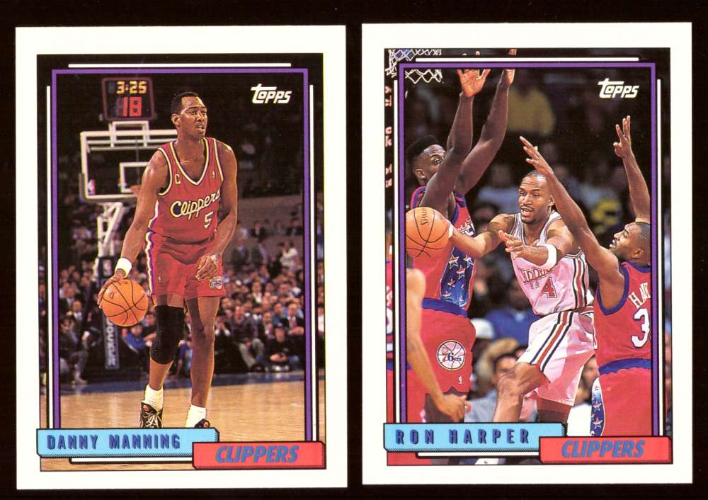 1992-93 Topps Basketball Team Set - Los Angeles Clippers