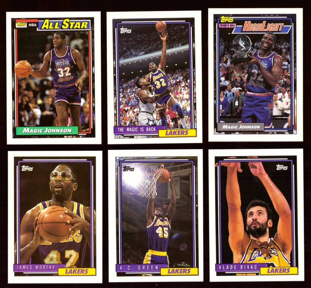 1992-93 Topps Basketball Team Set - Los Angeles Lakers