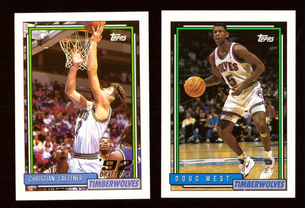1992-93 Topps Basketball Team Set - Minnesota Timberwolves