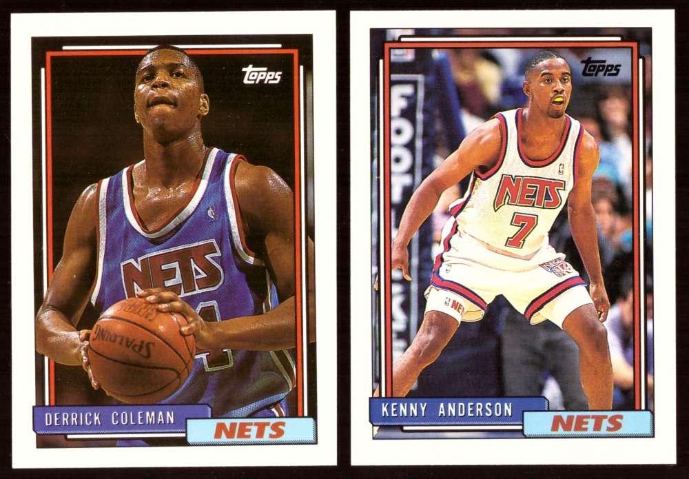 1992-93 Topps Basketball Team Set - New Jersey Nets