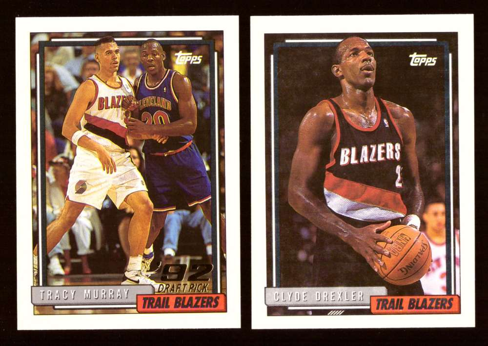 1992-93 Topps Basketball Team Set - Portland Trail Blazers