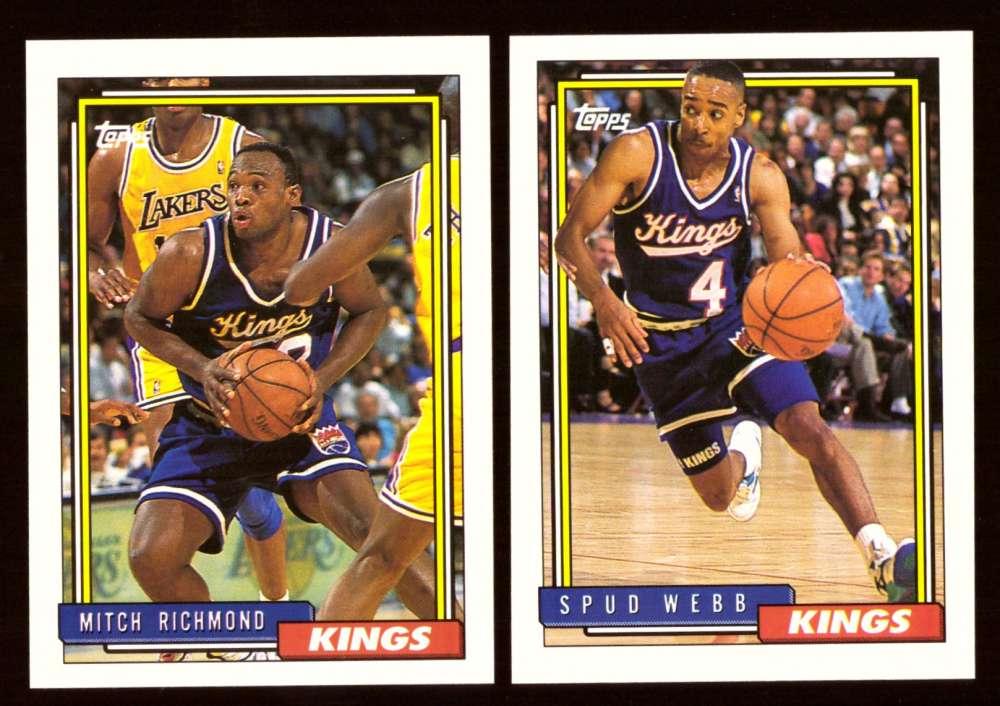 1992-93 Topps Basketball Team Set - Sacramento Kings