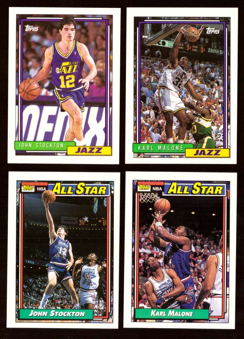 1992-93 Topps Basketball Team Set - Utah Jazz