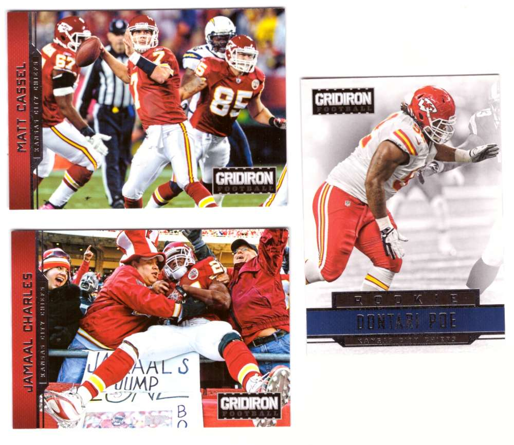 2012 Gridiron (1-300) Football Team Set - KANSAS CITY CHIEFS