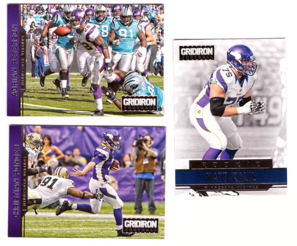 2012 Gridiron (1-300) Football Team Set - MINNESOTA VIKINGS