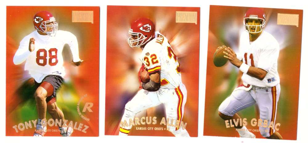 1997 SkyBox Premium Football Team Set - KANSAS CITY CHIEFS