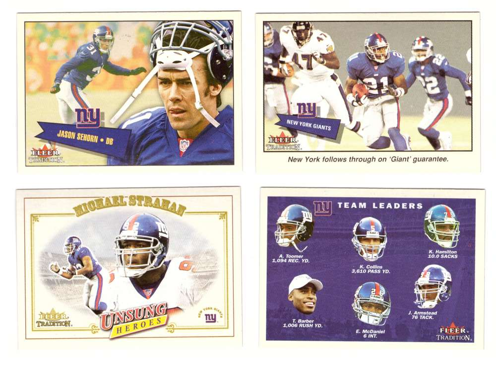2001 Fleer Tradition Football (1-400) - NEW YORK GIANTS