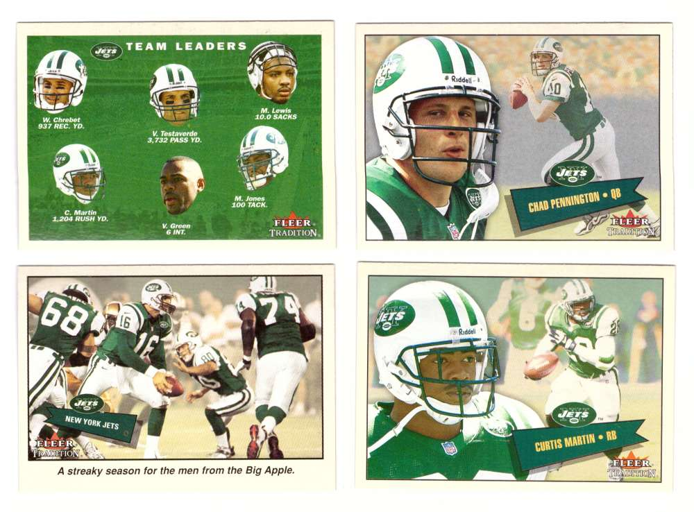 2001 Fleer Tradition Football (1-400) - NEW YORK JETS