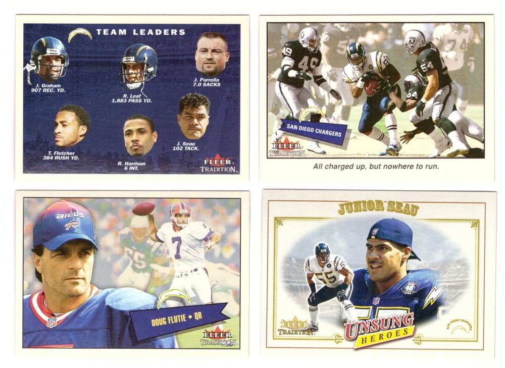 2001 Fleer Tradition Football (1-400) - SAN DIEGO CHARGERS