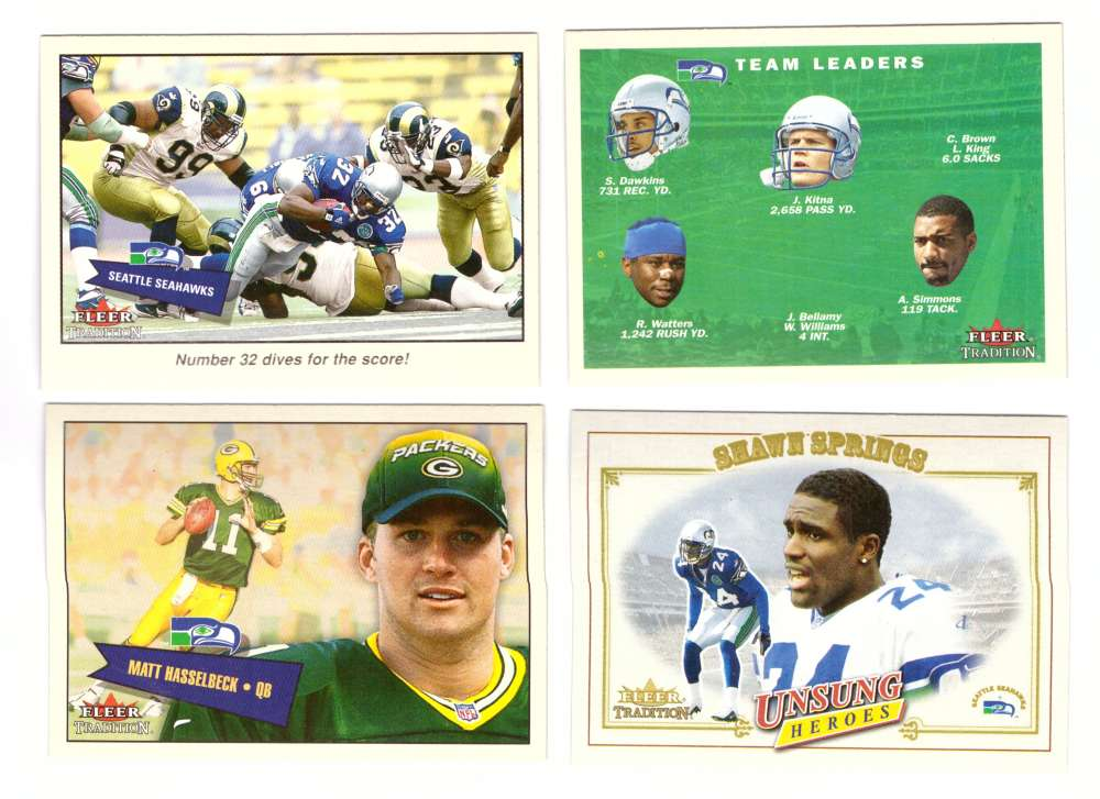 2001 Fleer Tradition Football (1-400) - SEATTLE SEAHAWKS