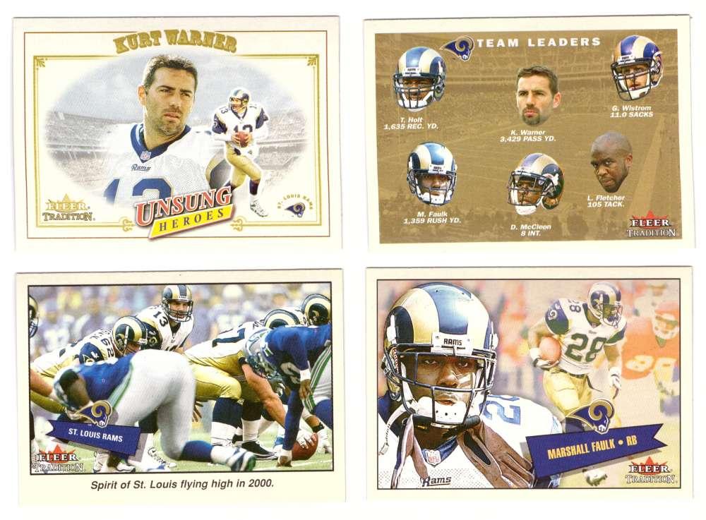 2001 Fleer Tradition Football (1-400) - ST. LOUIS RAMS