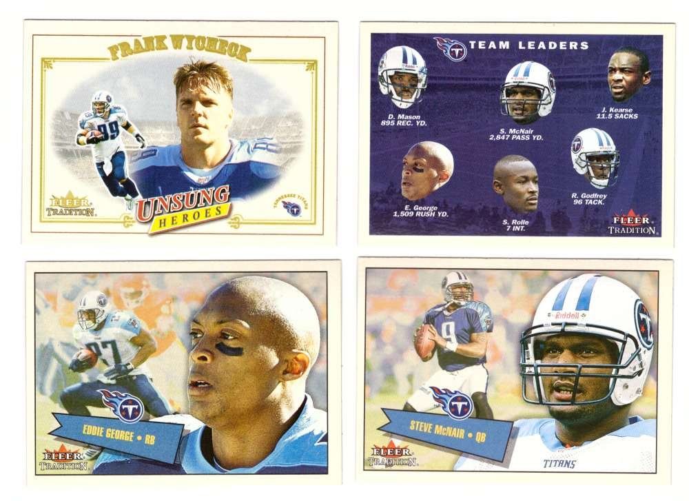 2001 Fleer Tradition Football (1-400) - TENNESSEE TITANS