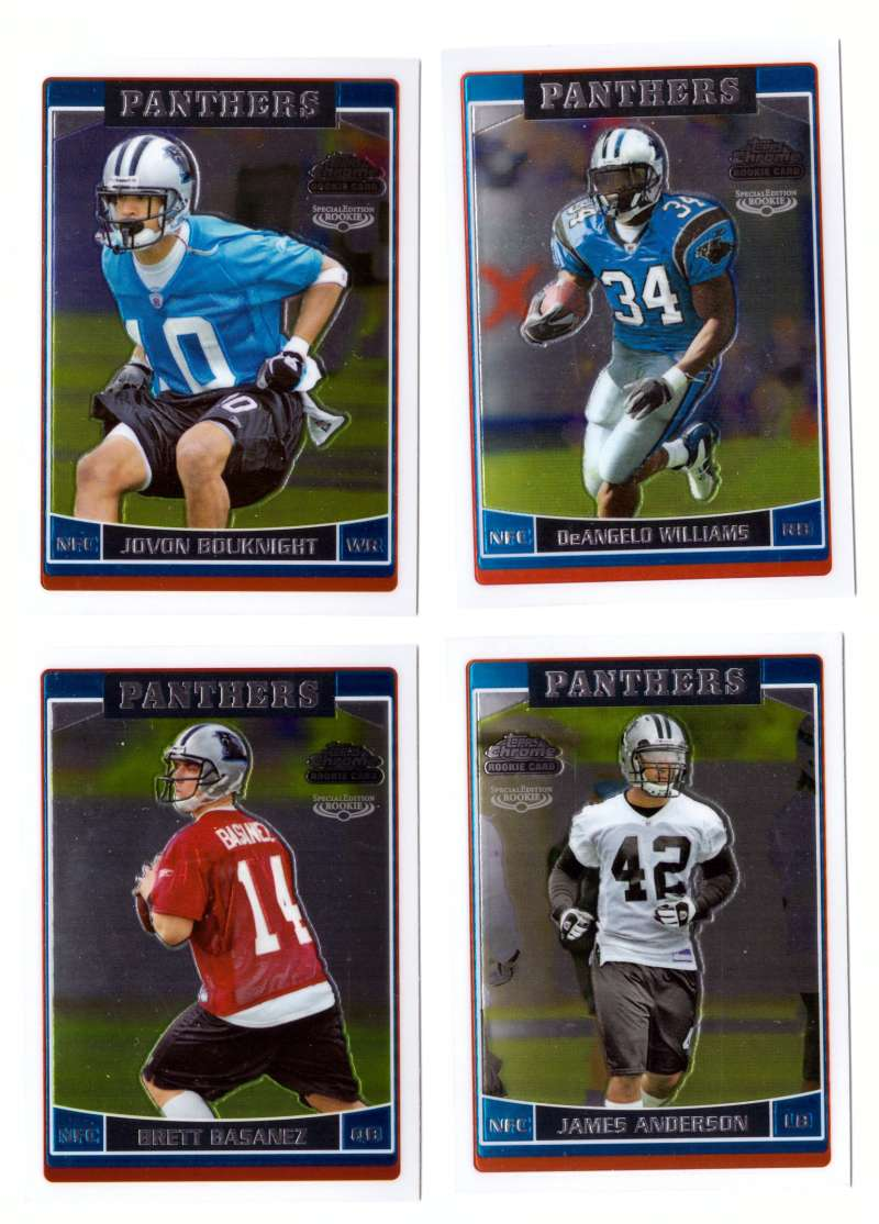 2006 Topps Chrome Special Edition Rookies Football - CAROLINA PANTHERS