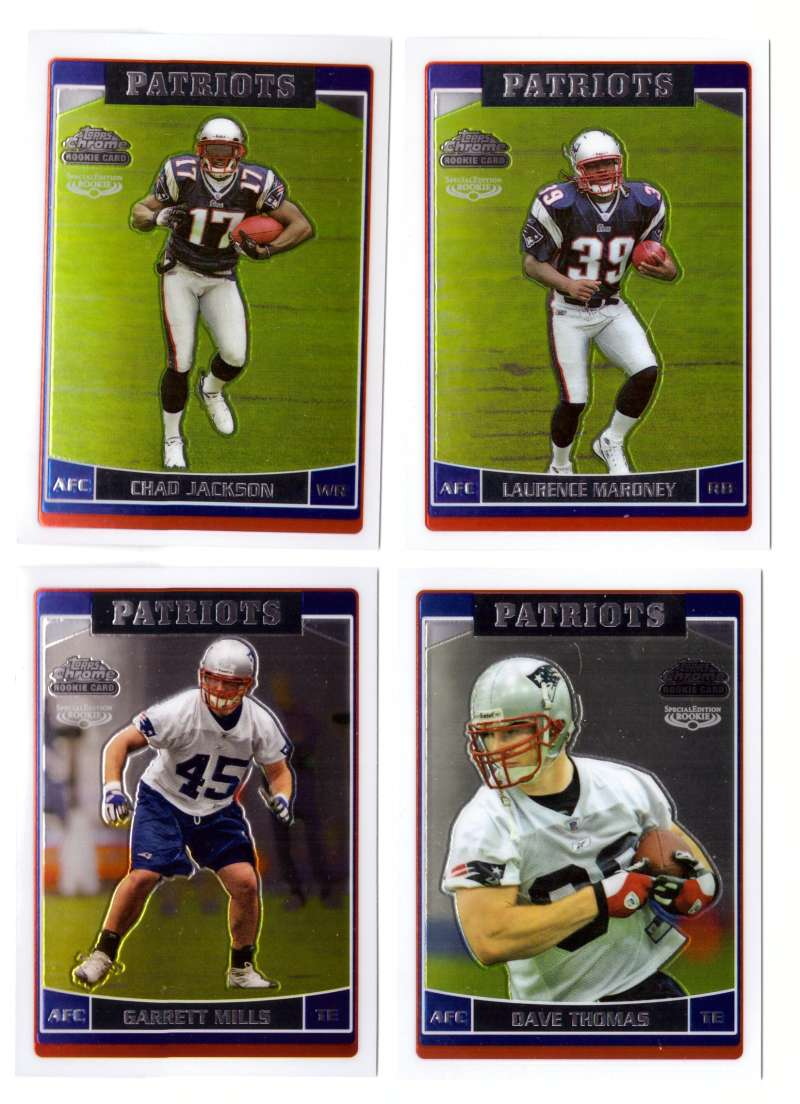 2006 Topps Chrome Special Edition Rookies Football - NEW ENGLAND PATRIOTS