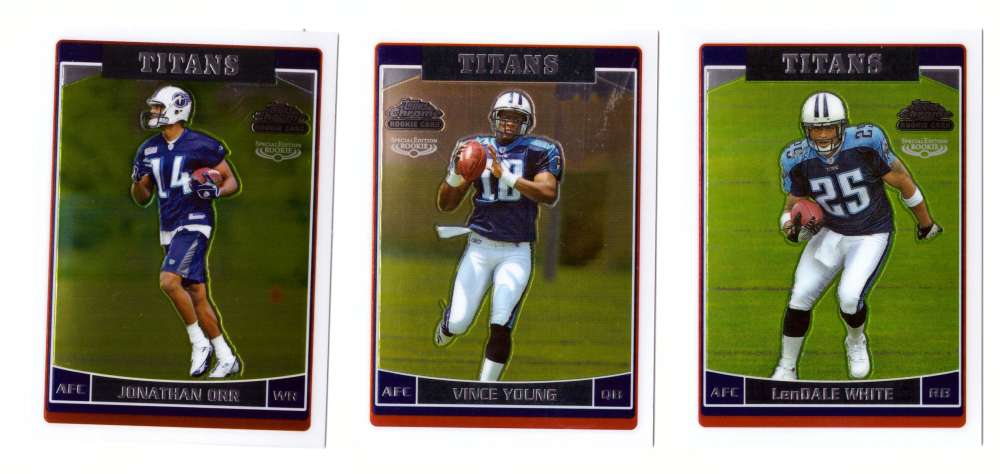 2006 Topps Chrome Special Edition Rookies Football - TENNESSEE TITANS