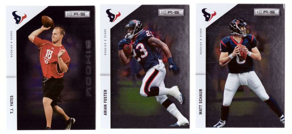2011 Rookies and Stars Longevity Football Team Set - HOUSTON TEXANS