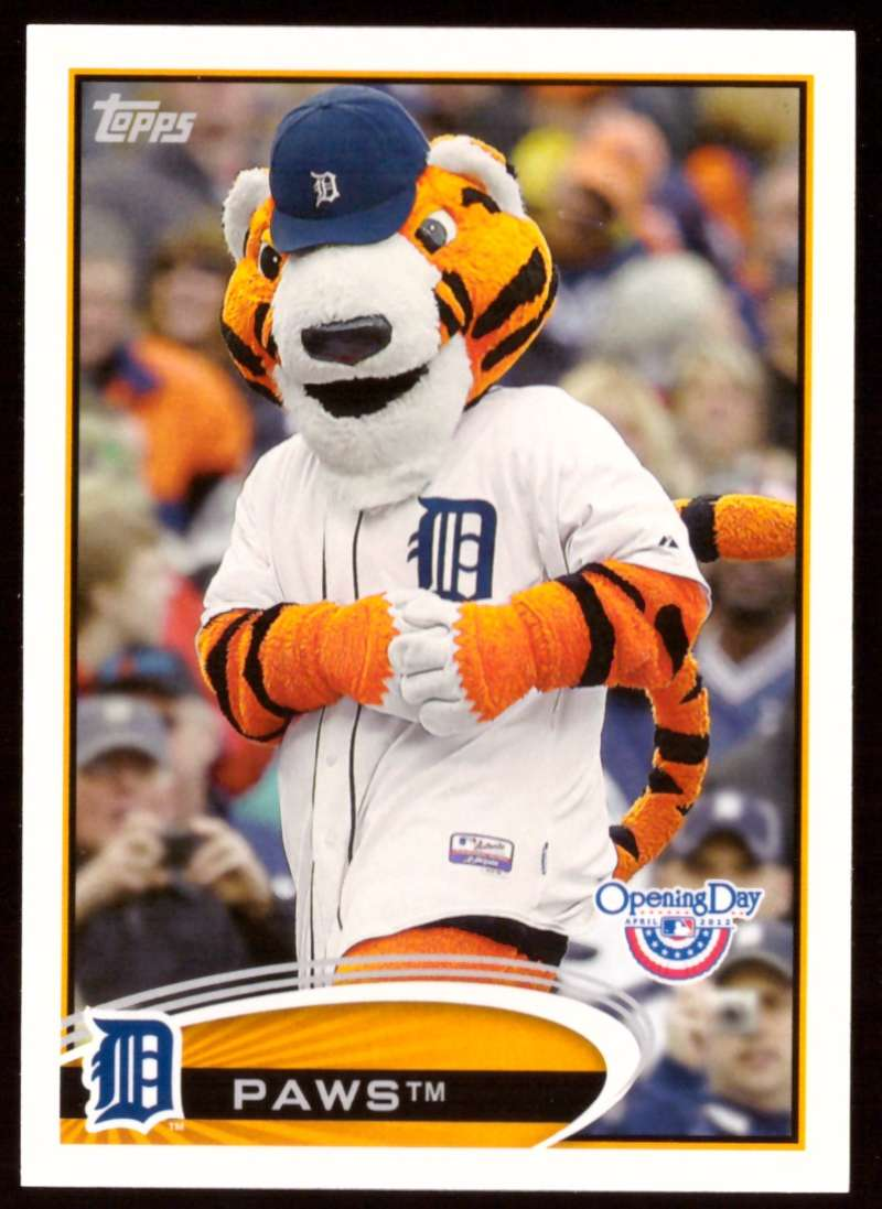 2012 Topps Opening Day Mascots - DETROIT TIGERS