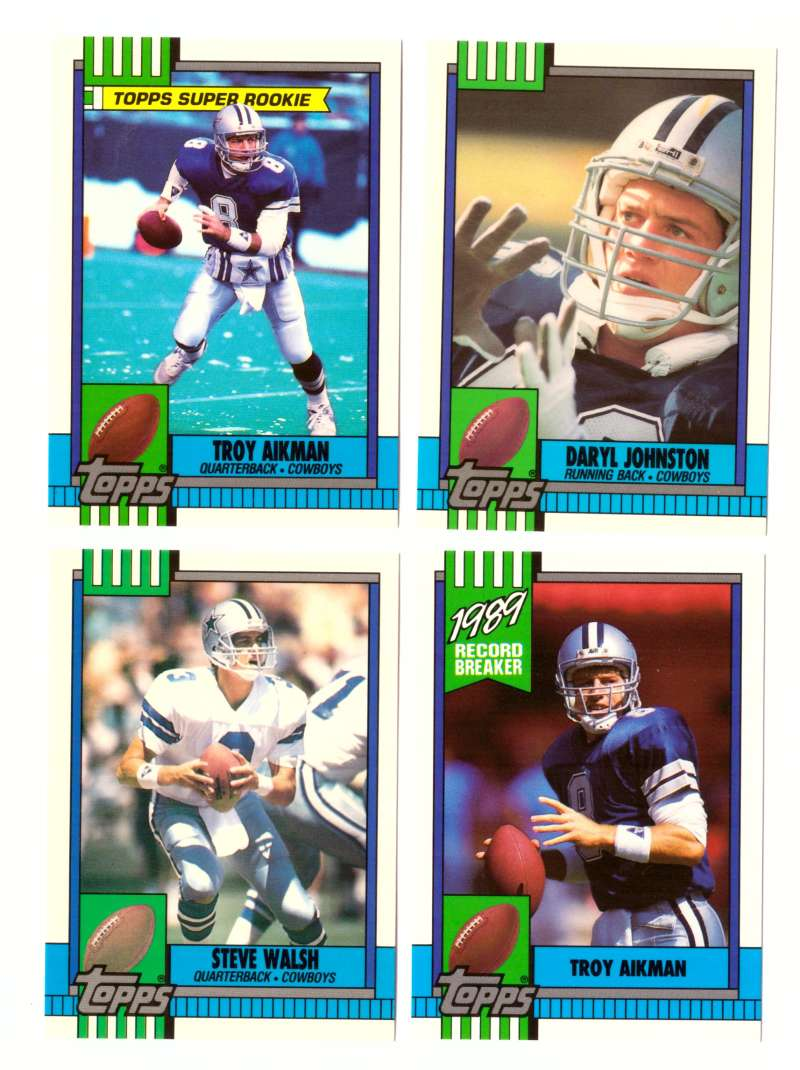 1990 Topps Tiffany Football Team Set - DALLAS COWBOYS