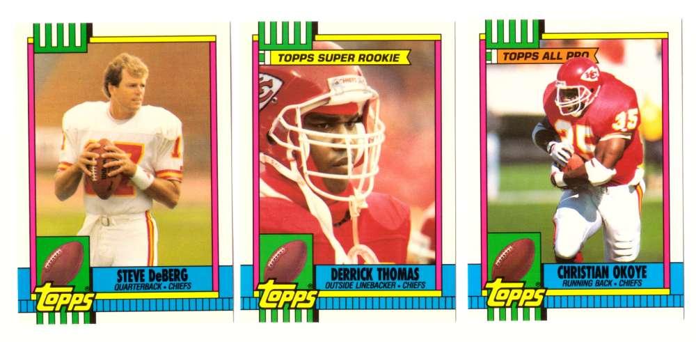 1990 Topps Tiffany Football Team Set - KANSAS CITY CHIEFS