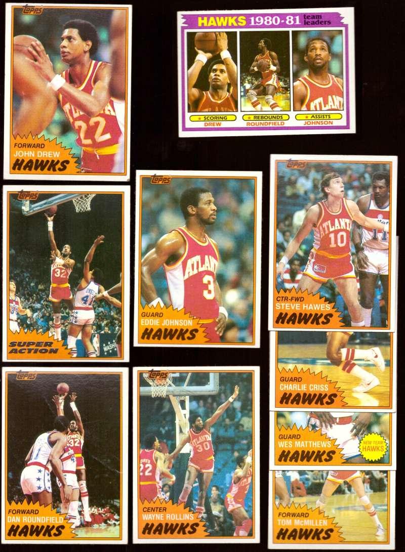 1981-82 Topps Basketball Team Set (EX+ Conditon) - Atlanta Hawks