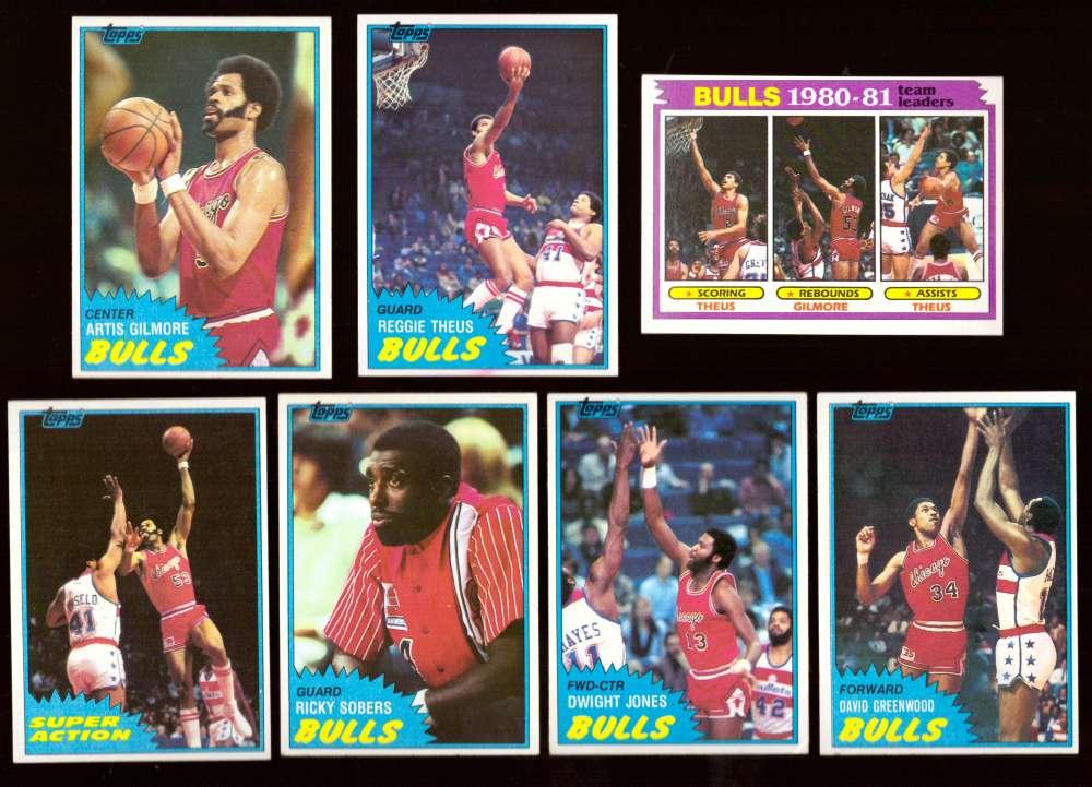 1981-82 Topps Basketball Team Set (EX Conditon) - Chicago Bulls