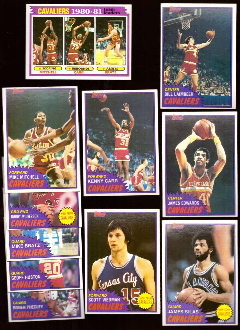 1981-82 Topps Basketball Team Set (EX Conditon) - Cleveland Cavaliers