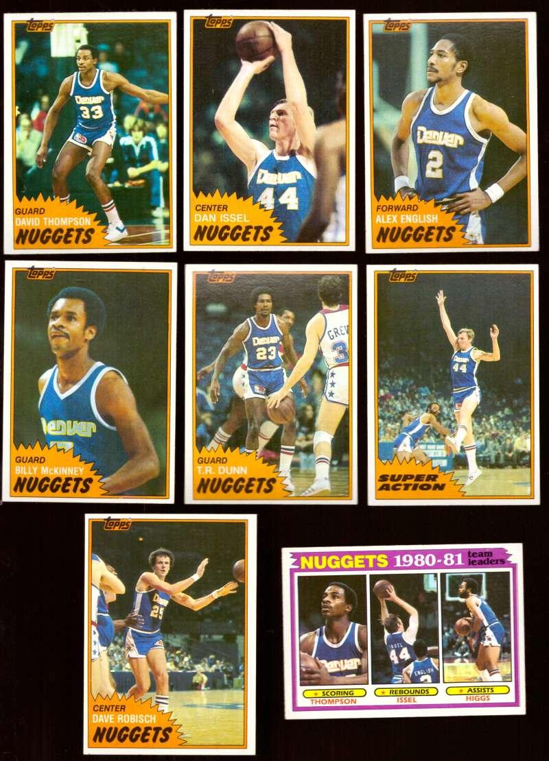 1981-82 Topps Basketball Team Set (EX Conditon) - Denver Nuggets